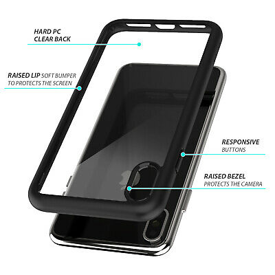 iPhone X XS Max XR Case ZUSLAB Clear Heavy Duty Shockproof Slim Cover + GLASS SP 5