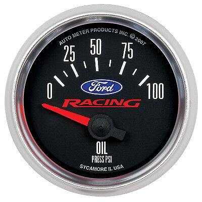 Auto Meter 880080 2-1//16 0-100 PSI Fuel Pressure Gauge for Ford Racing