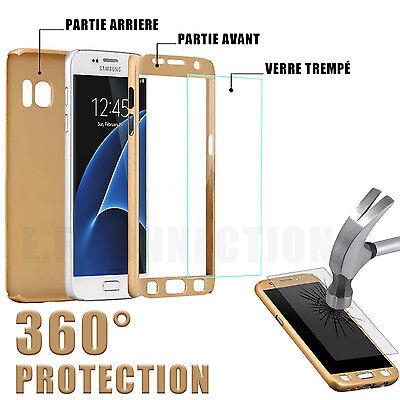 COQUE 360 FULL PROTECTION SAMSUNG S8 9 A10 A20e A40 A50 +FILM VITRE VERRE TREMPE 8