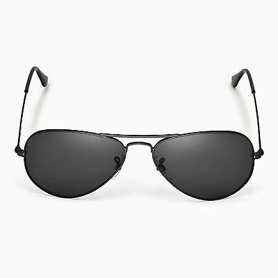 97cf3843ef053 ... Walleva Polarized Black Lenses For Ray-Ban Aviator Large Metal RB3025  55mm 5