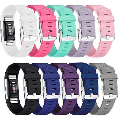 Fitbit Charge 2 Armband Uhrenarmbänder Verstellbares Ersatz Sport Fitnesstracker 5
