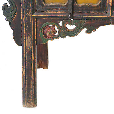 """Antique Chinese Asian 43 """" Wide 3 Drawer Table Coffer Cabinet Vanity 4"""