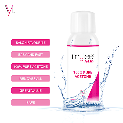Mylee 100% Pure Acetone Superior Quality Nail Polish Remover UV/LED GEL Soak Off 6