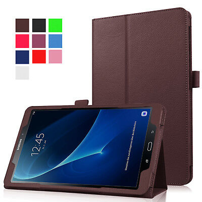 """For Samsung Tab A 8.0 10.1 E 9.6"""" Tablet PU Leather Flip Cover Case Litchi Grain 3"""