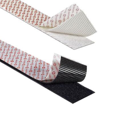VELCRO® Hook & Loop Self Adhesive Tape 10mm 20mm 50mm Black/White Sticky Strips 4