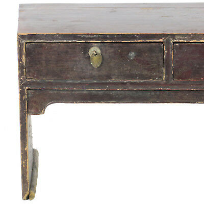 """Antique Chinese 3 Drawer Kang Coffee Table 50"""" x 20"""" Tall. Foot of Bed Bench 9"""