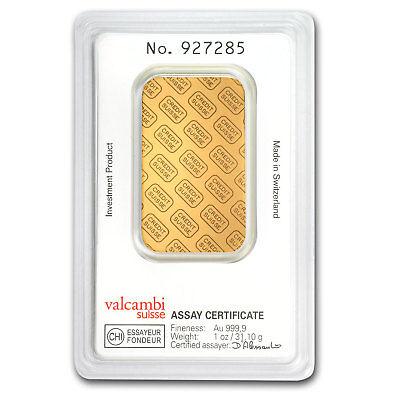 1 oz Credit Suisse Gold Bar In Assay .9999 Fine - SKU #82687 2