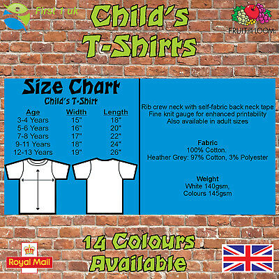Kids Plain t Shirts fruit of The Loom Children's Youth T-Shirts Childs Tee Shirt 2