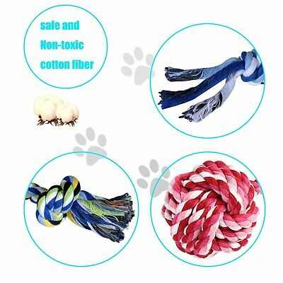Dog Puppy Toy Rope Xmas Christmas Bundle And Teeth Cleaning Cotton Rope Toys 4