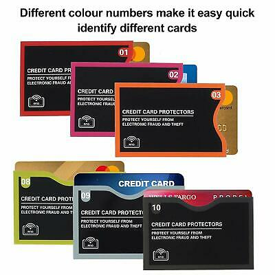 Numbered Travel RFID Sleeves Set -14 Credit Card Protectors & 5 Passport Holders 5