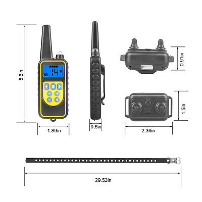 Dog Shock Collar With Remote Waterproof Electric for Large 875 Yard Pet Training 10