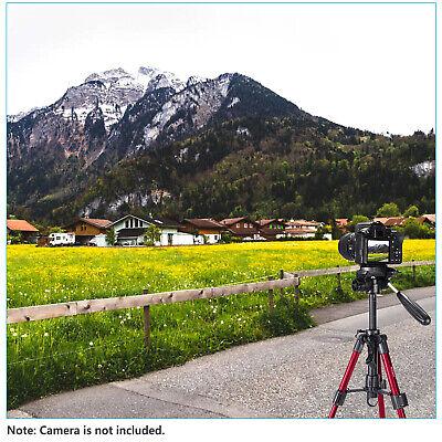 Neewer Red Mini Travel Tabletop Camera Tripod 62cm with 3-Way Swivel Pan Head 6