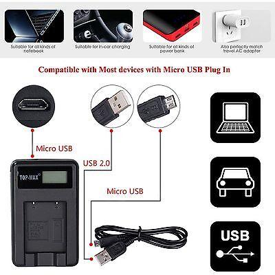 LCD Camera Battery charger Canon NB2L HF R11 EOS 350D 400D Digital Rebel XT XTi 2