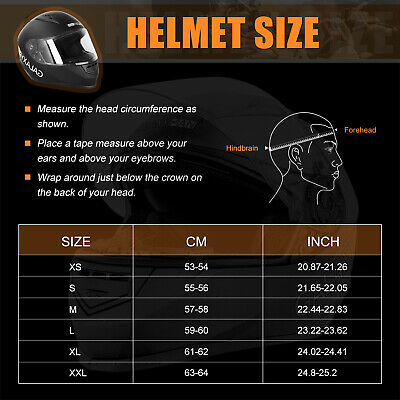Safety Motorcycle Full Face Helmet Street Motorbike Helmets Racing + FREE GLOVES 8