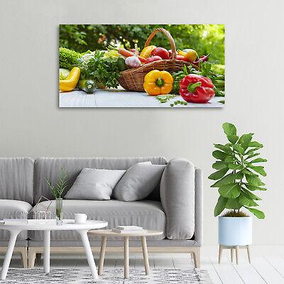 Glas-Bild Wandbilder Druck auf Glas 100x50 Deko Essen /& Getränke Korb mit Gemüse
