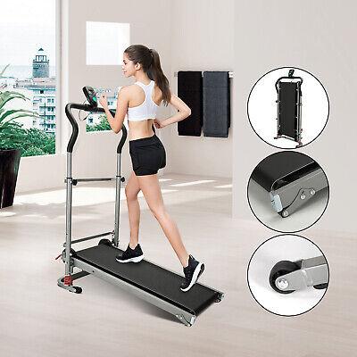 Folding Manual Mini Treadmill Running Walking Jogging Exercise Fitness Machine K