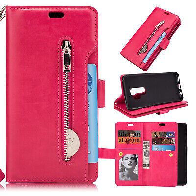 For Samsung Galaxy Note10 Plus S10+ S9 S8 S7 Flip Card Wallet Leather Case Cover 12