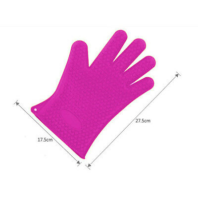 Silikon  Handschuh hitzebeständig Topfhandschuh Blech Ofen Backen Topflappen 2