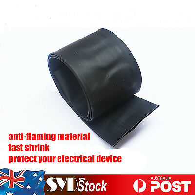 30MM BLACK Heat Shrink Wrap Sleeve Tube 2:1 Polyolefin Wire Tubing Kit Per Meter