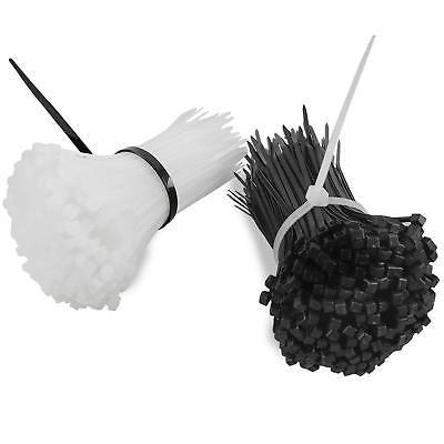 "Simple Deluxe 1000 Pcs Industrial 4"" Wire Cable Zip Ties Nylon Tie Wraps 2"