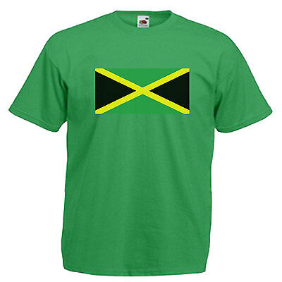 Jamaica Flag Children's Kids T Shirt 8