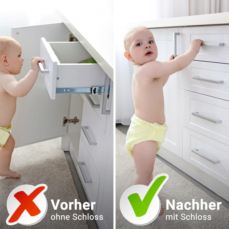 Kindersicherung Magnetisch Schranksicherung Schubladensicherung Baby Unsichtbar 2