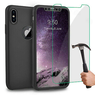 Coque Housse Total 360 Iphone 6 6S 7 8 5 Xr Xs Max Protection Vitre Verre Trempe 7