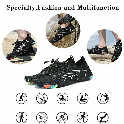 Water Shoes Quick Dry Barefoot for Swim Diving Surf Aqua Sport Beach Vaction 10