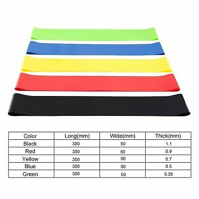 Workout Resistance Bands Loop Set CrossFit Fitness Yoga Booty Leg Exercise Band 9