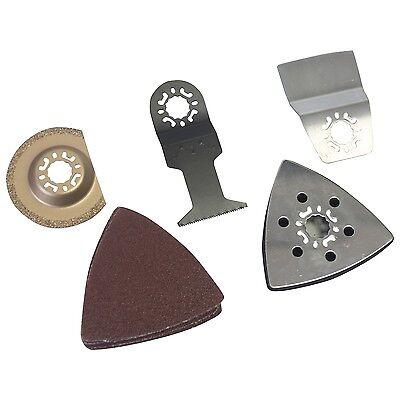 13 pc Multitool Accessories Set Universal Bosch Multi Tool Makita Workmaster New 2