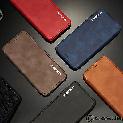 For Galaxy Note 10/9/8 S10/S9 Plus Leather Wallet Stand Thin Slim Case Cover 8