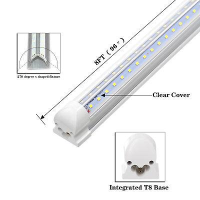 25-Pack JESLED 8FT LED Tube Light 72W 7800LM 6500K T8 Integrated LED Shop Lights 5