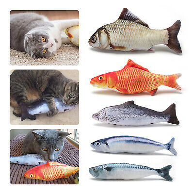 5 Pack Realistic Interactive Fish Cat Kicker Crazy Pet Toy Catnip Toys Gift 5