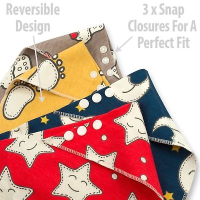 Baby Bibs Bandana Drool Bib 4 Pack by Cheraboo Gift Set Reversible & Soft 6