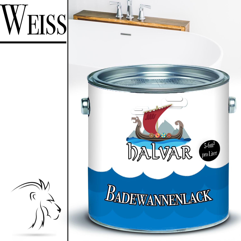 Halvar 2 K Badewannenlack Badewannenbeschichtung in Weiß GFK 2,5kg 5kg 10kg 3