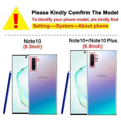 For Samsung Galaxy Note 10 Note 10 Plus Luxury Soft Clear Slim Rubber Case Cover 6