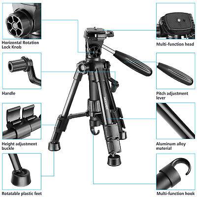 Neewer Mini Travel Tabletop Camera Tripod 24 inches with 3-Way Swivel Pan Head 2