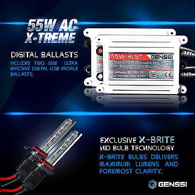 GENSSI AC 55W HID Kit H4 H7 H11 H13 9003 9005 9006 9007 6000K Hi-Lo Bi-Xenon 2