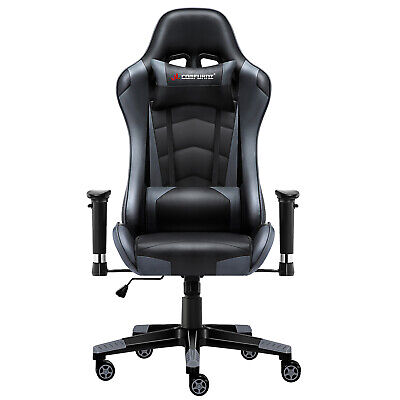JL Comfurni Gaming Racing Home Office Chair Executive Swivel Recliner Leather 9