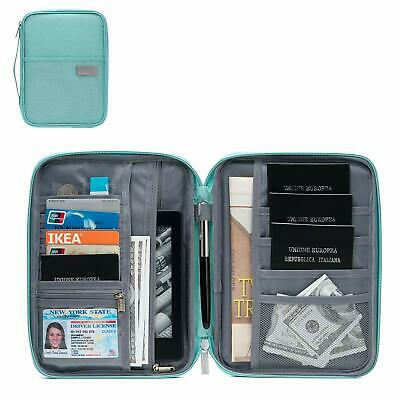 Family Passport Holder Travel Wallet Ticket Document Organiser Bag Multi-purpose 9