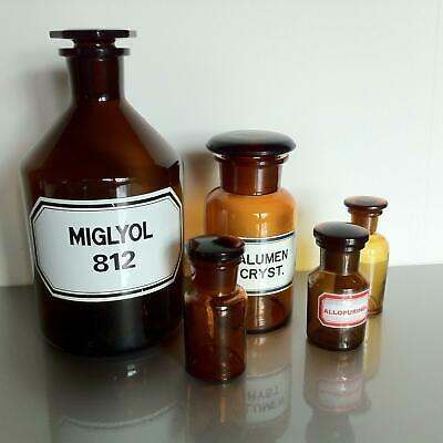 (b50) Braune Apothekerflaschen Apotheke Arzt Vorrat Tee 1000ml 250ml 50ml 4