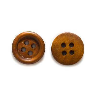 50pcs 4 hole Wood Buttons for Sewing Scrapbook Clothing Crafts Gift 15mm 5