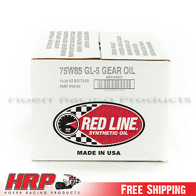 RedLine-75W85 GL-5 Gear Oil -12 Pack - PN: 50104