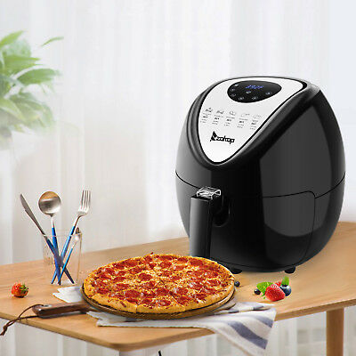 6.8QT Large Capacity Air Fryer W/ LCD Screen and Non-Stick Coating 1800W Black 11