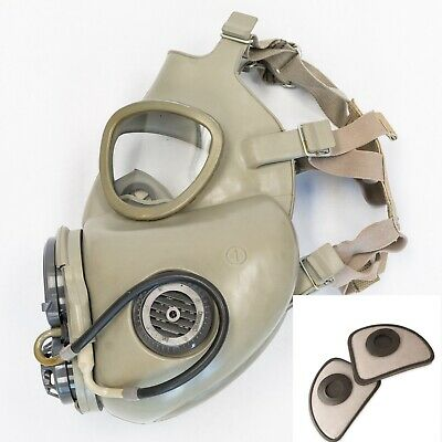 Military Czech Gas Mask M10M With Hydration Straw Filters Emergency Survival NBC 3