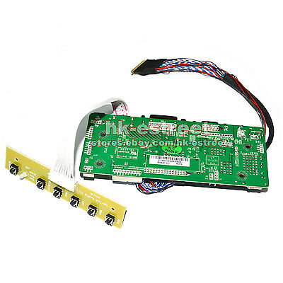 "HDMI+DVI+VGA LCD Controller Board Driver for 15.6/"" 1366X768 B156XW03 V.1 V1 @USA"