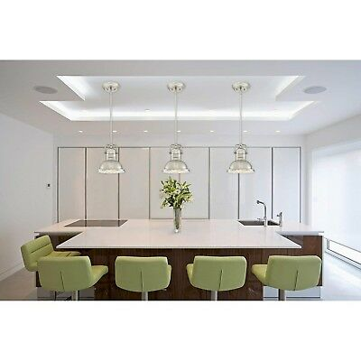 BRUSHED NICKEL PENDANT Light Fixture Modern Industrial ...