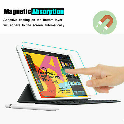 [2-Pack] Tempered GLASS Screen Protector for Apple iPad 7th Generation 2019 10.2 3