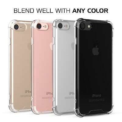 For Apple iPhone X/8/7 Plus Ultra Thin Transparent Clear Shockproof Bumper Case 7