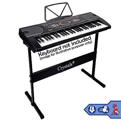 Height Adjustable Piano Stand & Stool Rectangular Frame Keyboard Stand Full Size 6